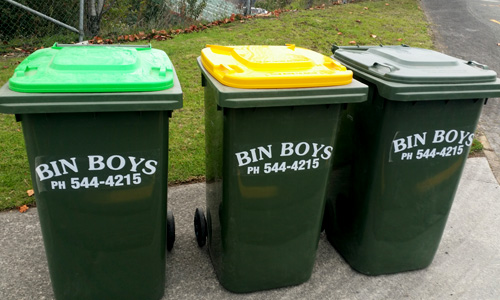 wheelie bins recycling green waste tauranga